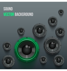 Sound Load Speakers on dark background vector image