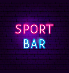 sport bar neon sign vector image