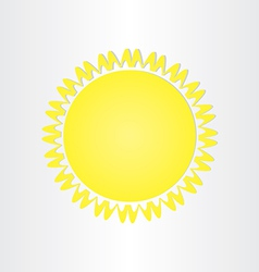 Sun energy solar button design vector