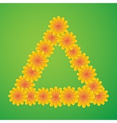 Triangle with yellow flowers vector
