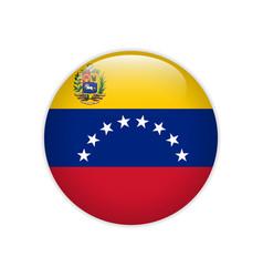 venezuela flag on button vector image