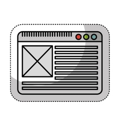 Web page template icon vector