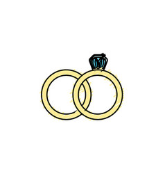 wedding ring to symbolic the love vector image