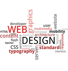 word cloud web design vector image