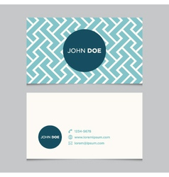 business card pattern blue 01 vector image