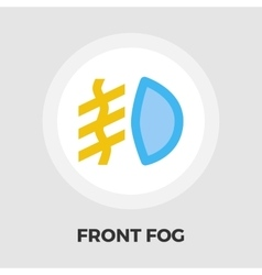 Front fog light flat icon vector image vector image