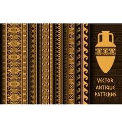 Border decoration set antique ethnic seamless vector image