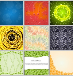Collection elegant abstract backgrounds vector image