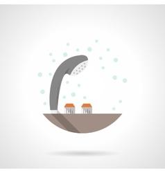 Gray shower head flat color icon vector image