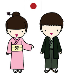 Japanese traditional dress vector
