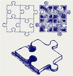 Jigsaw puzzle vector image