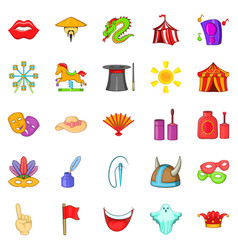 jollify icons set cartoon style vector image vector image