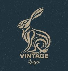 Rabbit vintage vector image