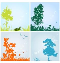 seasons vector image vector image