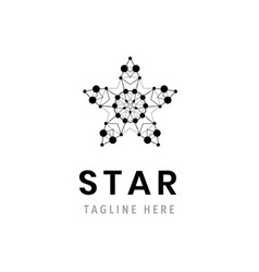 star logo template company symbol business vector image vector image