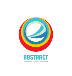 abstract circle logo template concept vector image