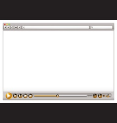 blank internet web browser template vector image