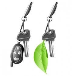electric car key vector image vector image