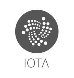 Iota coin symbol logo vector