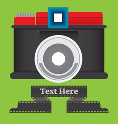 old camera vector image vector image