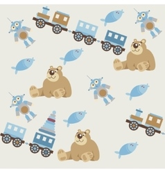 Seamless pattern of baby toys2 vector image vector image