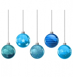 Christmas color balls vector image vector image