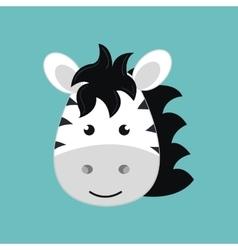 cute zebra isolated icon design vector image vector image