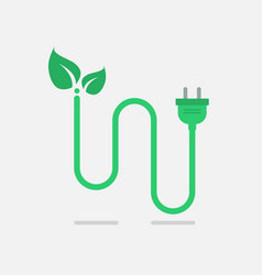 green eco power plug vector image