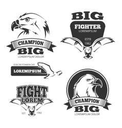 Military eagle heraldry labels logos vector image vector image