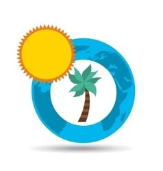 vacation around world sunny palm vector image