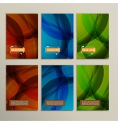 Abstract bright colors green and blue brown vector