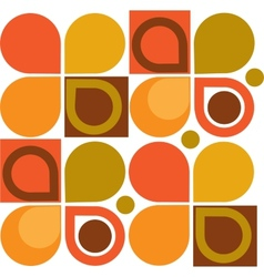 Abstract Retro Geometric seamless pattern vector image