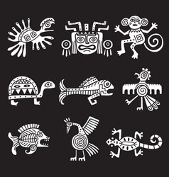 ancient mexican symbol aztec tribal traditional vector image