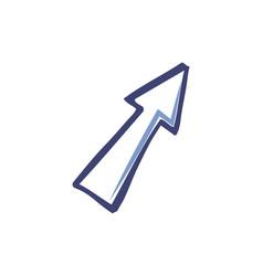 arrow design arrowhead forward isolated vector image