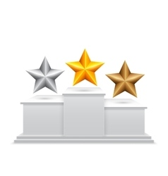 Award Stars on Podium vector image