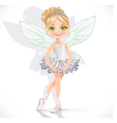 Beautiful little fairy girl vector