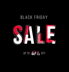 Black red and white 3d effect sale vector