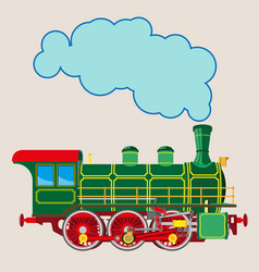 Bright cartoon steam locomotive vector