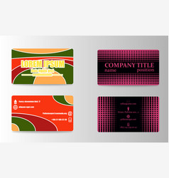 Business card set template for business identity vector