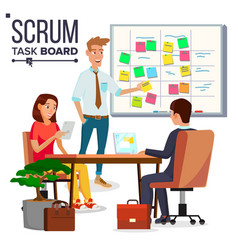 business characters scrum team work vector image