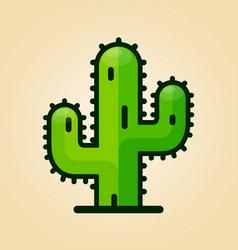 cactus design icon vector image
