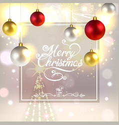 christmas greeting card with christmas vector image