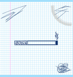 cigarette line sketch icon isolated on white vector image