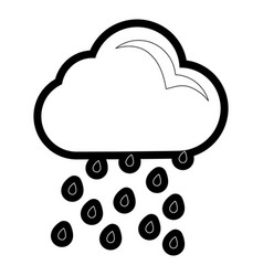 cloud weather symbol cartoon vector image