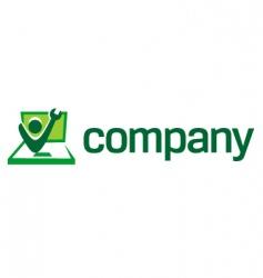 computer repair logo vector image