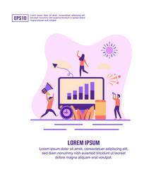 concept digital marketing modern conceptual vector image