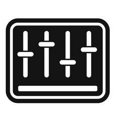 Console equalizer icon simple style vector