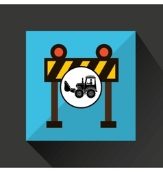 construction truck concept barrier light design vector image