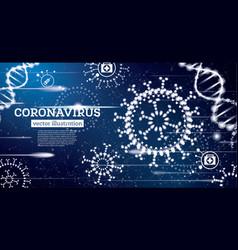 Coronavirus influenza medical concept vector