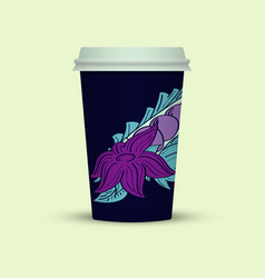 Creative abstract plastic coffee cup vector